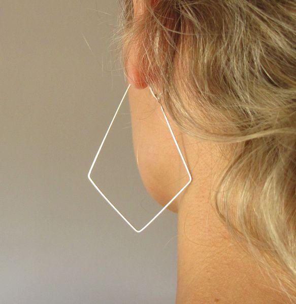 Weiteres - Geometrische Ohrringe - Silber Creolen - Schmuck - ein Designerstück von NadinArtDesign bei DaWanda