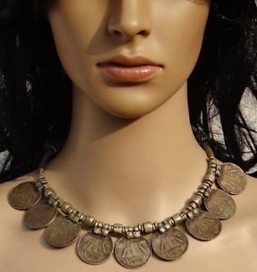 Silver coin necklace from kutch,Gujarat