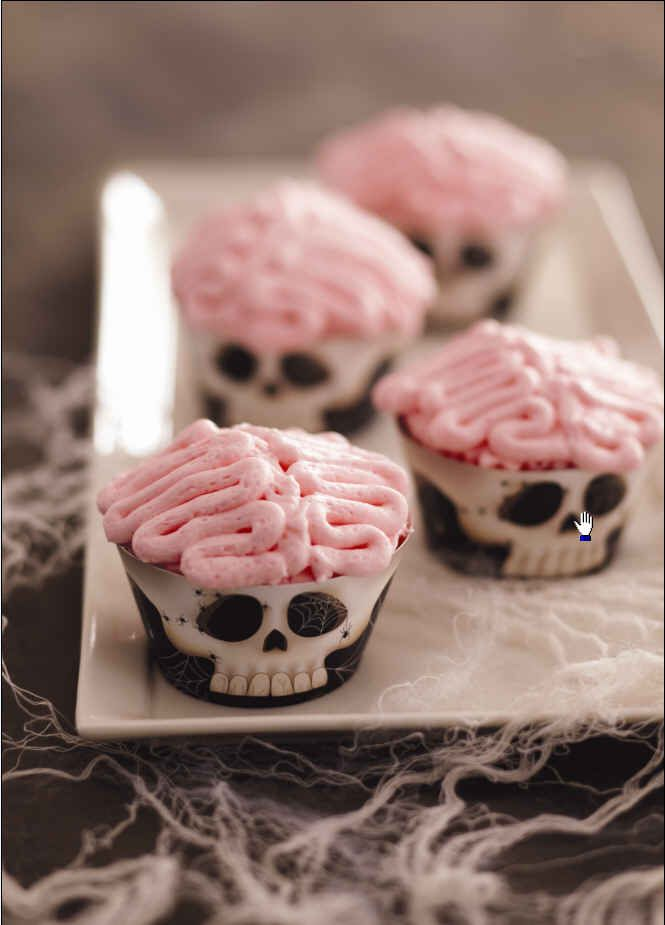 Jo Cupcake Brains Kit at Cost Plus World Market - A delicious treat you can decorate! Create frightful characters for a fun way to celebrate Halloween. >> #WorldMarket Halloween #HalloweenTreats #HalloweenBaking