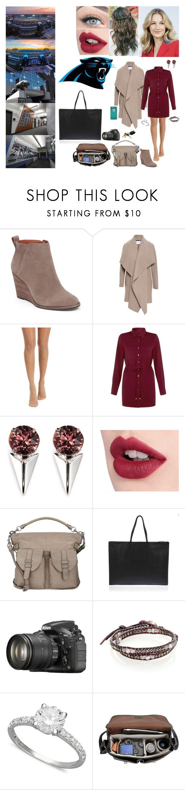"""Panthers Interview"" by mkat99 ❤ liked on Polyvore featuring Harris Wharf London, OtterBox, Cameo Rose, Joomi Lim, Charlotte Tilbury, Liebeskind, Rick Owens, Nikon, Chan Luu and Arabella"