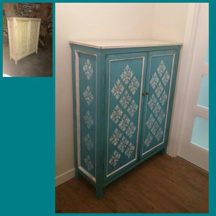 Mueble pintado efecto envejecido pasos 1 barnizar color - Pintar un mueble de blanco envejecido ...