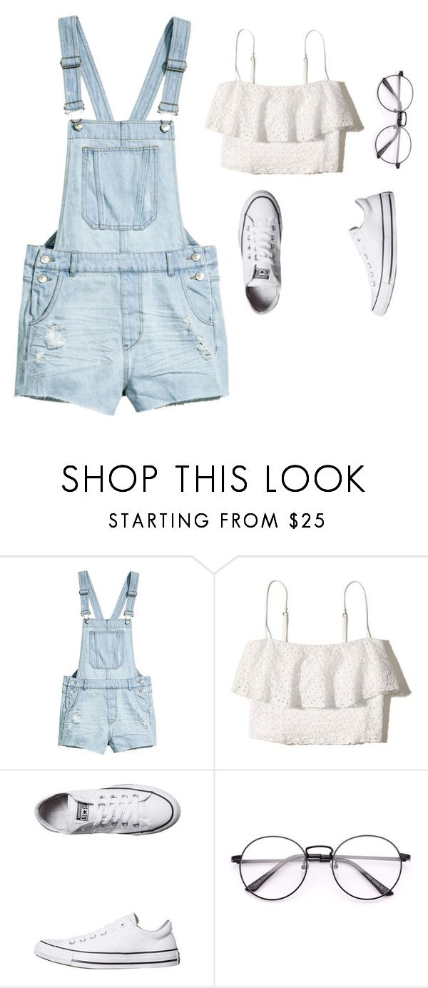 """""""Sin título #6"""" by luzpineda on Polyvore featuring moda, H&M, Hollister Co. y Converse"""
