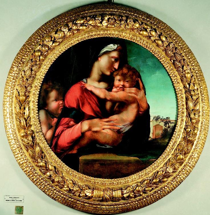 Alonso Berruguete, Madonna col Bambino e san Giovannino, Firenze, Palazzo Vecchio, 1513-1514 circa, collezione Loeser