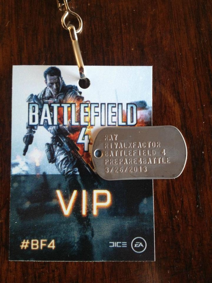 Custom battlefield 4 dog tags from ea dice for rivalxfactor