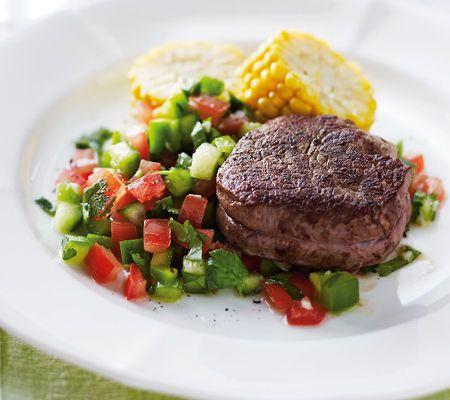 Beef Fillet with Coriander Salsa by Michelle Bridges