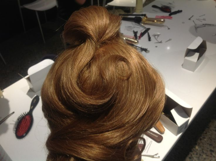 top of the head on my updo