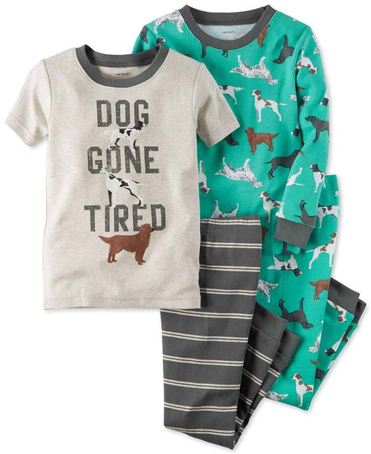 Carter's Baby Boys' 4-Pc. Dog Gone Tired Pajama Set