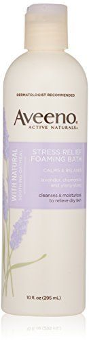 Aveeno Active Naturals Stress Relief Foaming Bath 10 Ounce