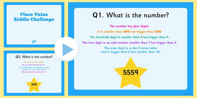 Place Value Riddle Challenge PowerPoint