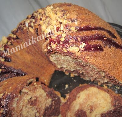 Meskouta-Kika/ Hazelnut & Almond Moroccan Cake / Gâteau Marocain aux Amandes et Noisettes - Marbled Almond-Hazelnut Cake
