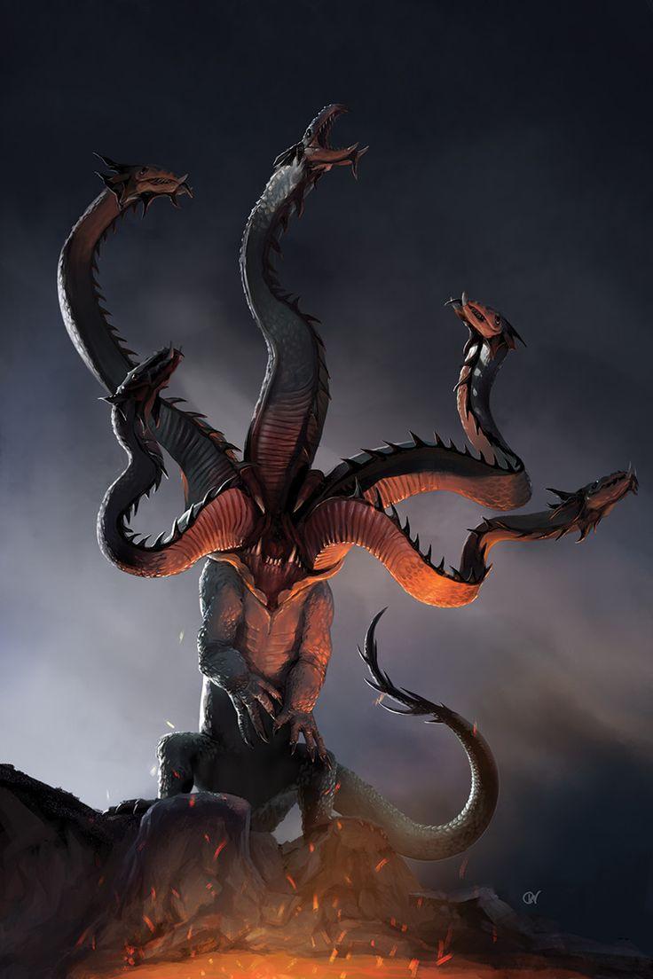 Hydra, Chris Waller on ArtStation at https://www.artstation.com/artwork/arLVJ