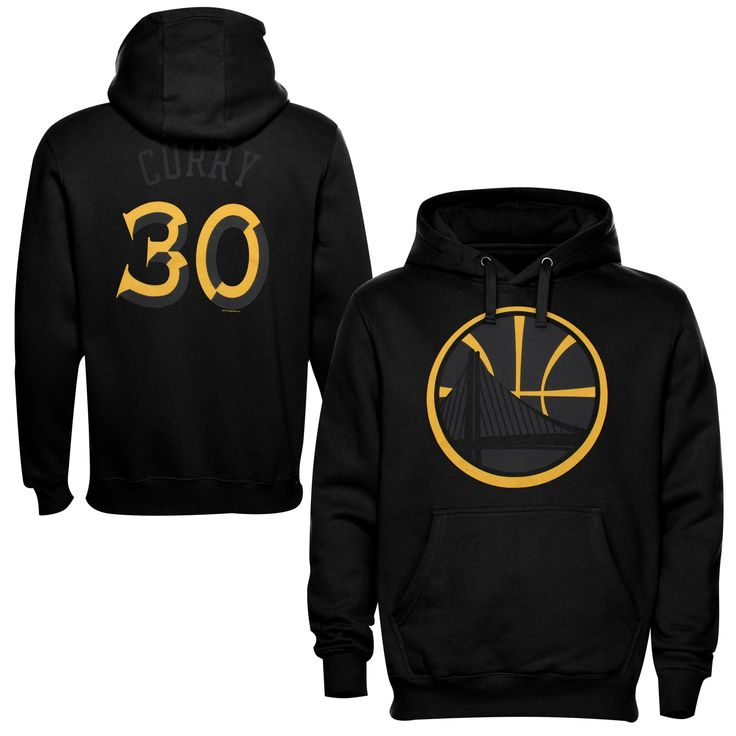 Majestic Stephen Curry Golden State Warriors Reflective Player Hoodie - Black