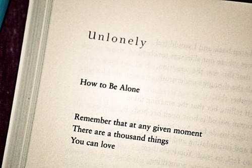 unlonely - the realm of possibility - david levithan Remember, at any given moment, there are a thousand things you could love