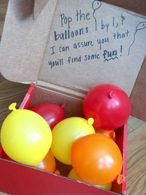 Ballonnen met geld als trouwcadeau