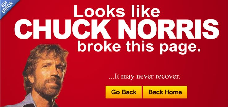 404 page of SCA Promotions