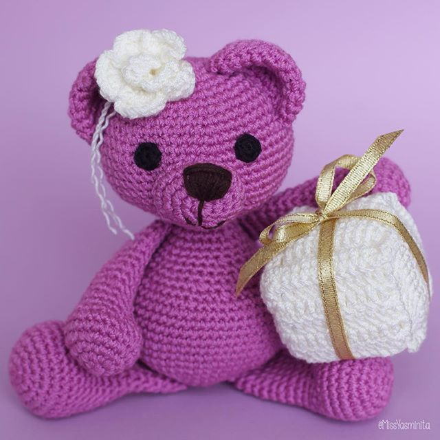 Meet Mrs. Jackson, she has got a present for you. #amigurumi #amigurumis #crochet #crochetlove #crochetaddict #babyshower #babygirl #babyfashion #nursery #nurserydecor #plush #toy #toys #teddybear #babyshower #toddlerfashion #diy #babygift #girlsroom #firstborn #handmadewithlove #etsy #etsyshop #etsystore #babyphoto #bear #toyplanet #toystagram #crocheting