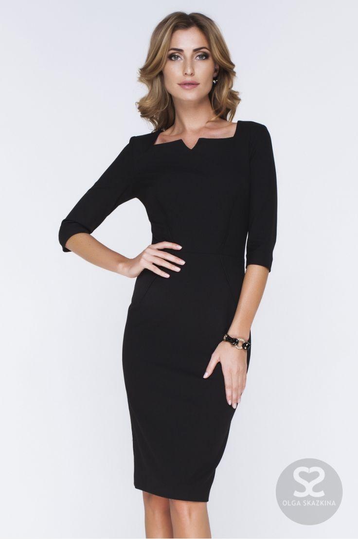 Классическое платье футляр из костюмной ткани в интернет-магазине дизайнера.   Skazkina