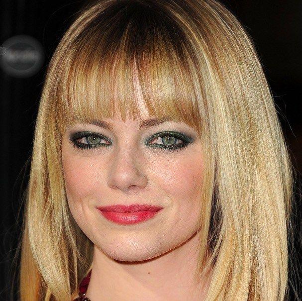 Il verde sugli occhi è poi molto bello anche se abbinato con le labbra color lampone o rosse, più o meno scure, in modo da creare un bel contrasto mantenendo un'armonia generale del trucco! Più soft per Emma Stone, qui bionda, qualche anno fa