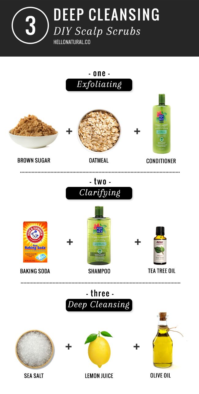 3 Deep Cleansing DIY Scalp Scrubs | http://hellonatural.co/deep-cleansing-diy-scalp-scrubs/