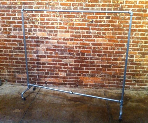 Rolling Clothing Rack Retail Store Fixture Vintage