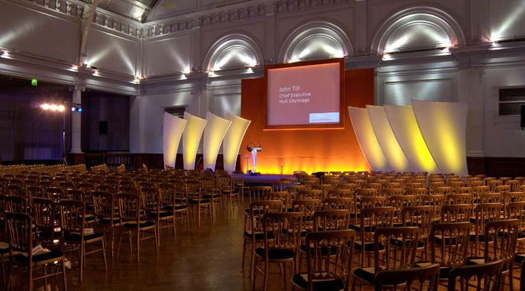A conference at the Lindley Hall