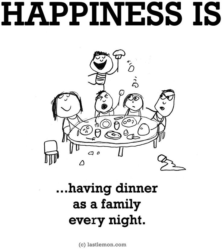"""""""Happiness is...having dinner as a family"""" via www.LastLemon.com"""