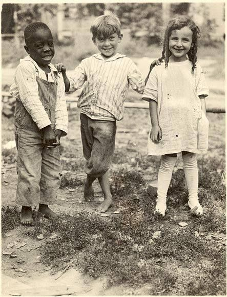 Racism and oppression are learned and taught. Stop teaching it. Nebraska. c. 1910. Photograph by Frederick Blaine Humphrey.