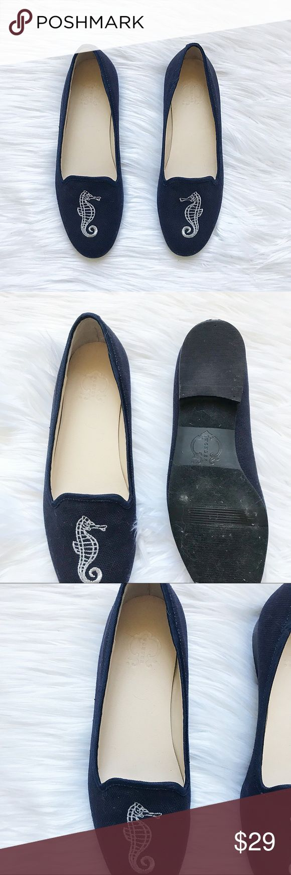 C Wonder Seahorse Navy Flats * C Wonder Seahorse Flats * Textile Upper * Man Made Sole * Fabric Texture  Size: 7 Color: Navy & White Condition: Excellent Used Condition  No stains, rips, tears   Pet/Smoke free home. Offers welcomed ✨ C Wonder Shoes Flats & Loafers