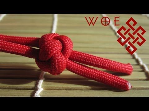 How to Tie the Ideal Paracord Lanyard Knot (Two Strand Diamond Knot) - YouTube