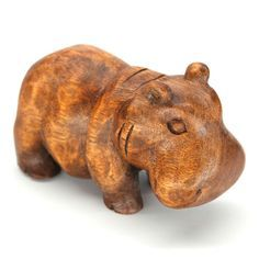 "KUDA HIPPOPOTAMUS CARVING Handcarved from sustainable rain tree wood. 6"" high. Handmade by talented artisans in developing countries. Imported. Be sure to enter Kendra.IThoughtOfYou@gmail.com at checkout!"