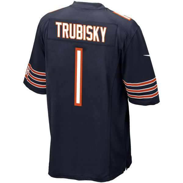 Mitchell Trubisky Chicago Bears Nike 2017 Draft Pick Game Jersey - Navy 3 #ad