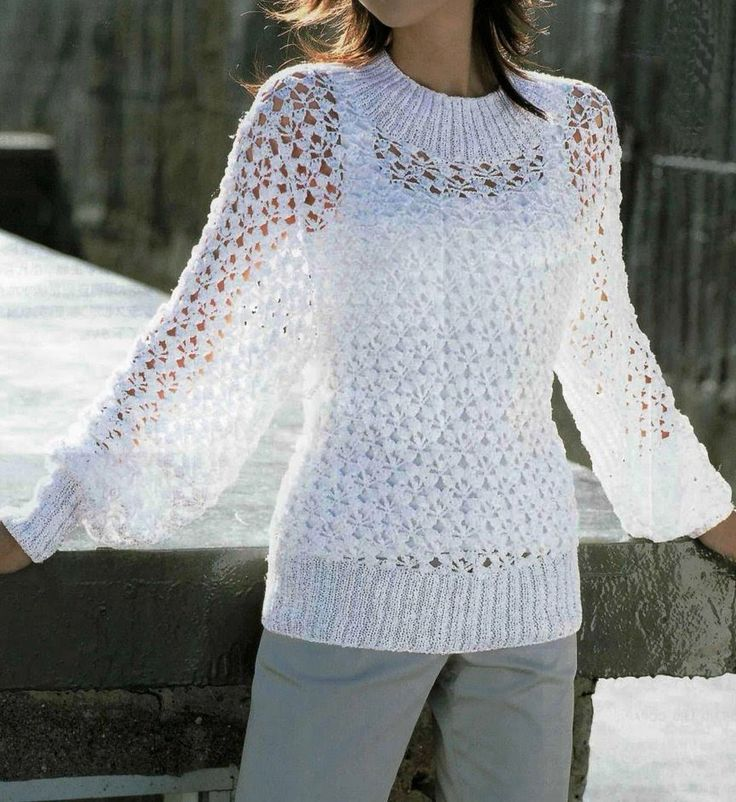 Pullover Vest Knitting Pattern : Free knitting patterns summer white pullover