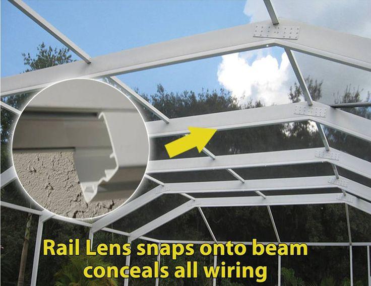 Rail Lens Snap On Screen Enclosure Lighting Screen Enclosures Lanai Lighting