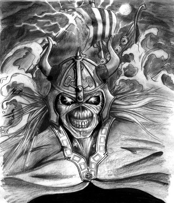 Viking Eddie, pencil drawing from 2007.