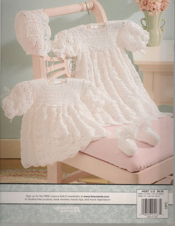 Rose Christening Set Crochet Pattern Sport Weight Yarn Baby Dolls