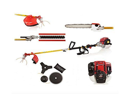 CHIKURA 6 IN 1 POWERED GX35 BRUSHCUTTER WHIPPER SNIPPER CHAINSAW TRIMMER 4-STROKES >  Nylon line feed bump head 3 tooth metal blade .Shoulder strap harness & tool kit Environmentally friendly with low emissions, less noise and low fuel consumption Delivers excellent torque an... Check more at http://farmgardensuperstore.com/product/chikura-6-in-1-powered-gx35-brushcutter-whipper-snipper-chainsaw-trimmer-4-strokes/