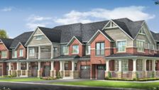 Beautiful exposed brick exteriors of the townhomes at Ivy Ridge, Durham Regional Road 26, Whitby , Whitby, ON is a new development project by Minto. Check out the property photos, floor plans and amenities. | REW.ca