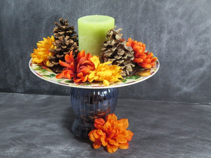 Cupcake Pedestal, Fruit Plate, Buffet Plate Stand, Candle Centerpiece, Cookie Plate, Appetizer Dish, Pastry Plate Stand, Tidbit Plate 34 by DancingDishAndDecor on Etsy https://www.etsy.com/listing/166550478/cupcake-pedestal-fruit-plate-buffet