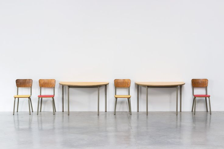 Tubax school tables with 4 chairs for children | http://www.furniture-love.com/browse.php | From selection of important 20th century modern furniture. -- Great Christmas Holiday Gift