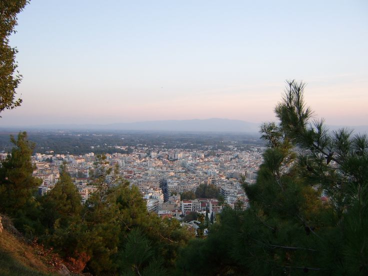 Sunset from acropolis, serres