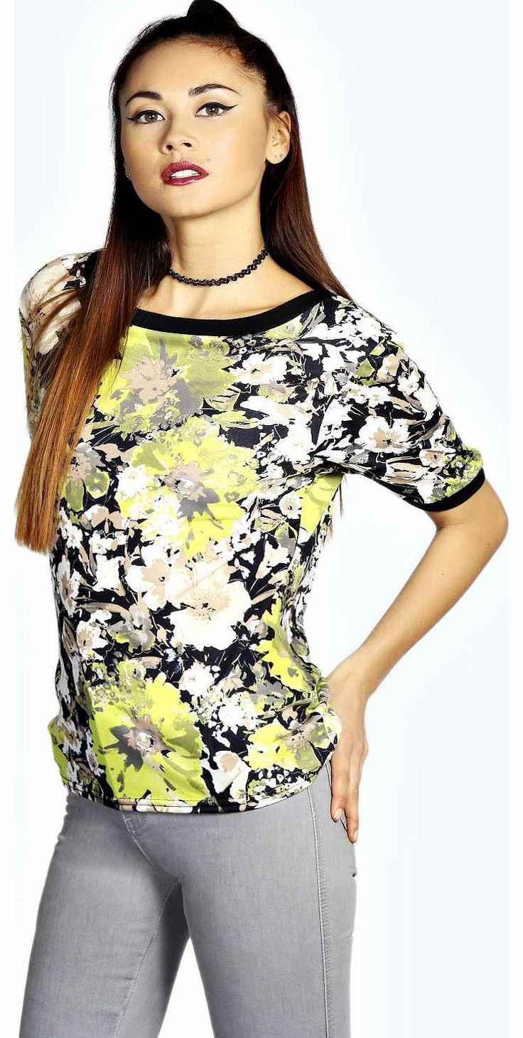 boohoo Isla Blurred Floral T Shirt - multi azz17921 Make your top pop this season with sporty, baseball-style basic tees in quilted finishes with ribbed, stripe trims. Crew necks come in block colours, crop tops with mesh inserts and long sleeve jersey http://www.comparestoreprices.co.uk/womens-clothes/boohoo-isla-blurred-floral-t-shirt--multi-azz17921.asp
