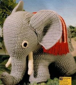 Crochet- Toy Elephant pattern- approx 25cm height- Nice pattern