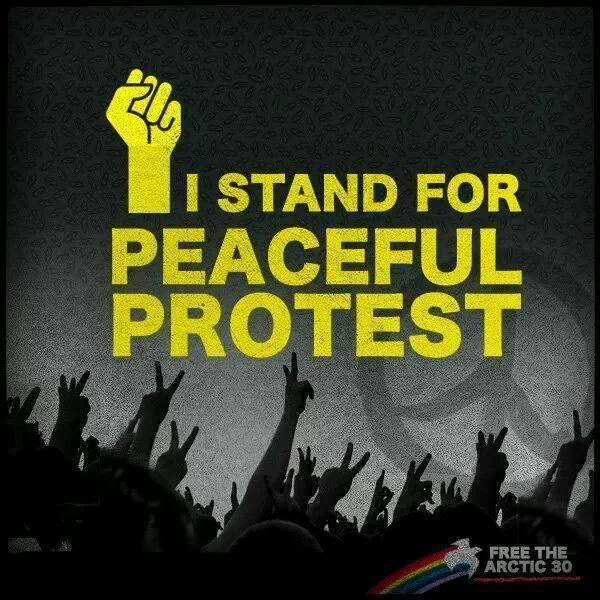 ╰ღ╮ANONYMOUS╭ღ╯ ░▒▓► ❥ #FreeTheArctic30 - peaceful #protest