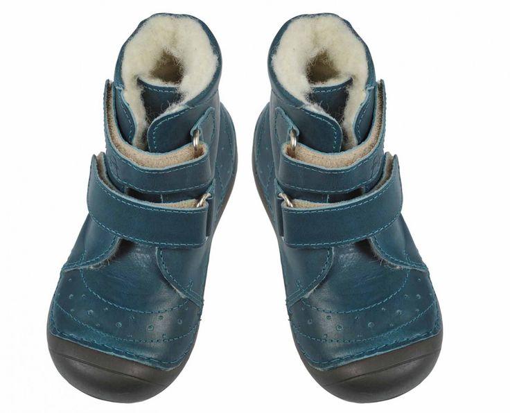 Anna und Paul gefütterter Winter Stiefel Bootie in Jeans Blau Gr. 20-25