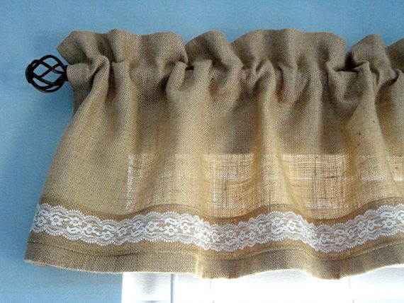 Burlap Valance Window Valance Housewares Window от Solnishko42