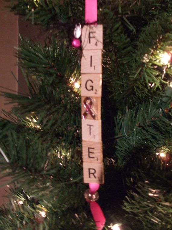 Hand Made Breast Cancer Fighter Christmas by OurElfsCreations, $12.00