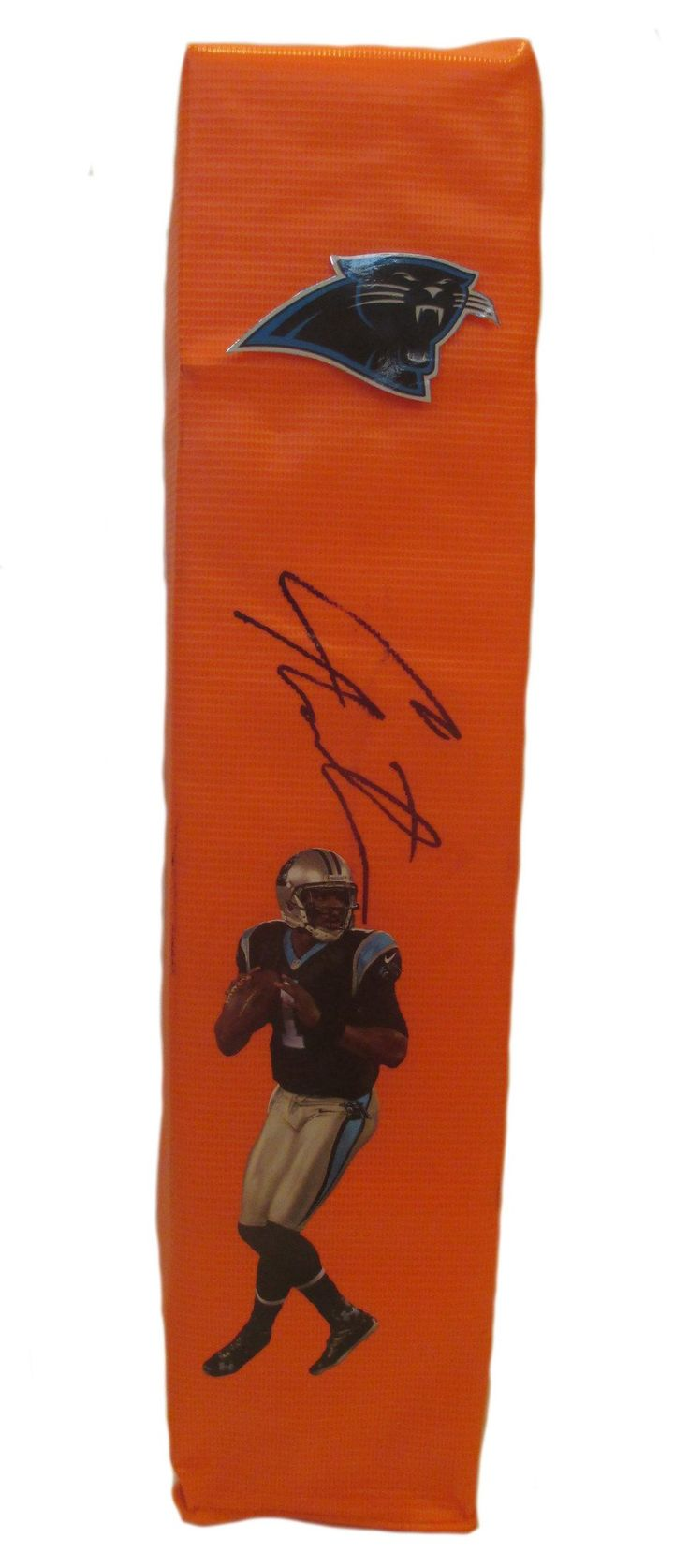 Cam Newton Autographed Carolina Panthers Full Size Photo Football End Zone Touchdown. This is a brand-new custom Cam Newton signed Carolina Panthersfull sizefootball end zone pylon. This pylon measures 4inches (Width) X 4inches (Length) X 18inches (Height). Cam signed the pylonin black sharpie.Check out the photo of Cam signing for us. ** Proof photo is included for free with purchase. Please click on images to enlarge. Please browse our websitefor additional NFL & NCAA…