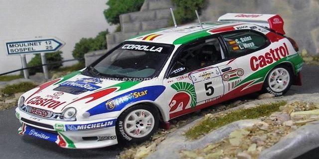 Acropolis Rally of Greece 1998 Toyota Corolla WRC Sainz/Moya 1/43