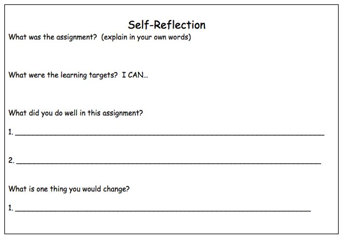 eibe self reflection assignment