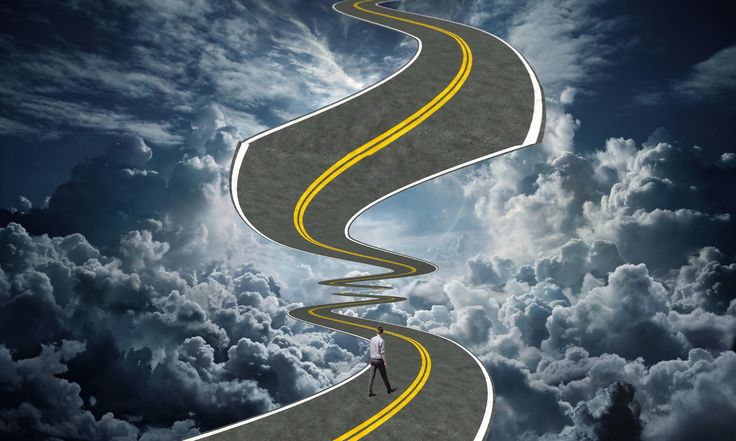 A road that leads a man to paradise.